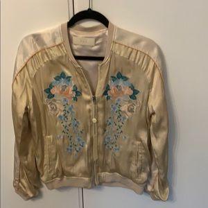 BLANKNYC floral dusty pink bomber jacket NWT Sz s